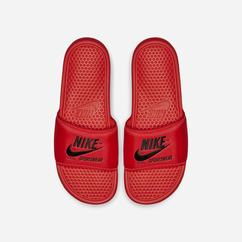 Sandali Nike Benassi Just Do It Textile SE Uomo, Rosse Chiaro/Nere, 98559-216