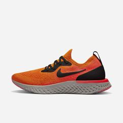 Scarpe Running Nike Epic React Flyknit Donna, Rame/Rosse/Nere, 49574-404