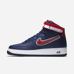 Sneakers Alte Nike Air Force 1 High '07 LV8 Sport NBA Uomo, Blu Marino/Bianche/Rosse, 98061-931